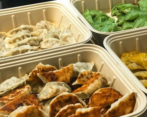 assorted dumplings platter business catering manhattan