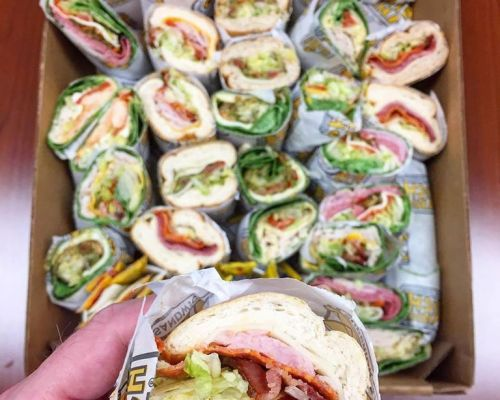 assorted sub sandwich wrap