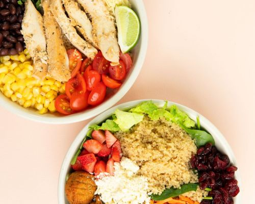 bowl healthy salad office catering
