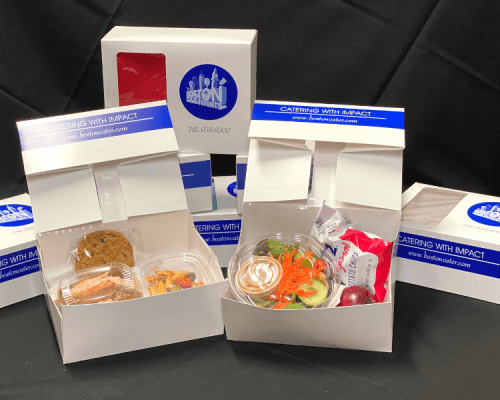 boxed meals individually packed catering food order office