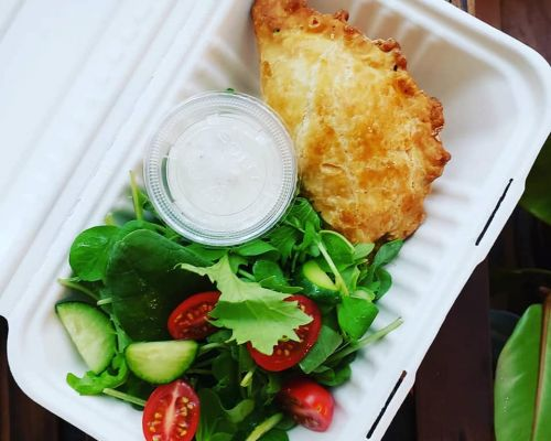boxed meal with healthy ingredients food