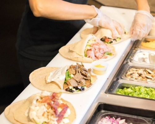 boxed meals mediterranean caterer pita wrap order