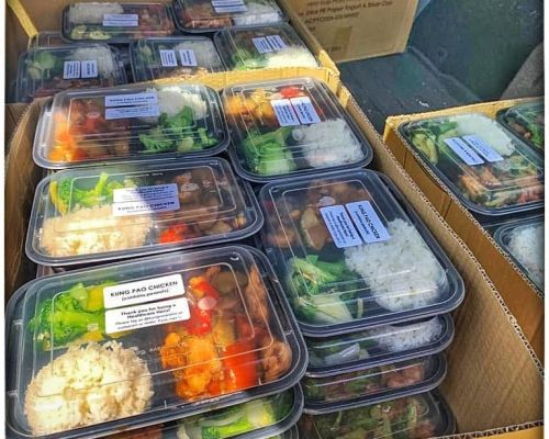 boxed office meals individually packed business catering hollywood