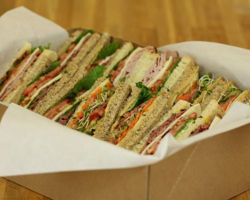 boxed office meals sandwich catering corporate caterer jacksonville