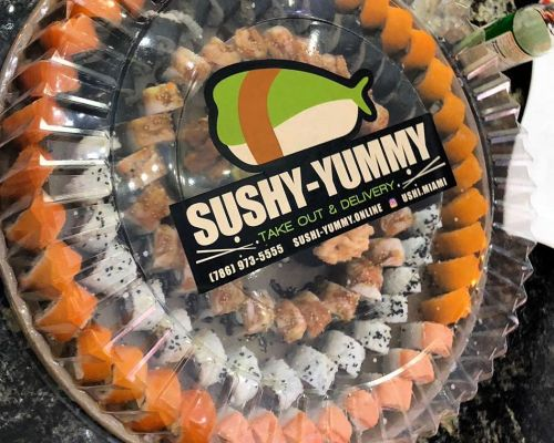 boxed packed meals catering sushi asian