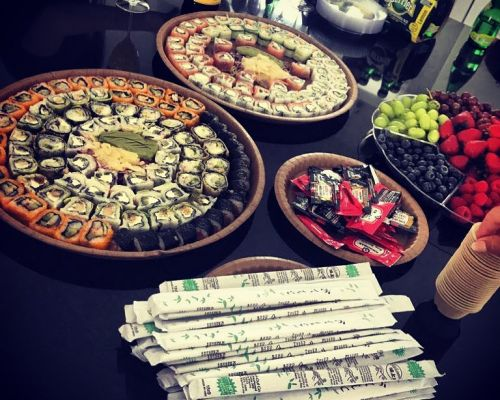 buffet catering sushi event