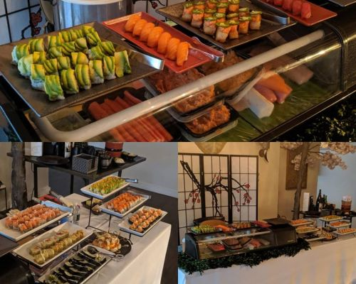 buffet catering sushi Mineola office food delivery catering packages