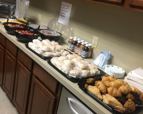 buffet catering oteam lunch order cordova