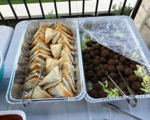 buffet style business catering halal austin