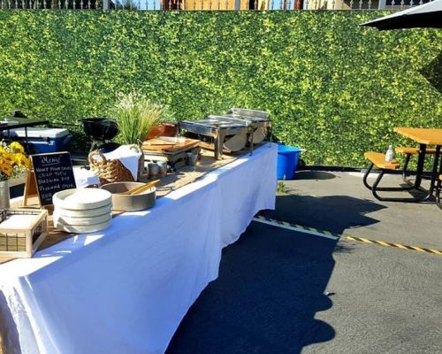 buffet style corporate catering group food order redondo