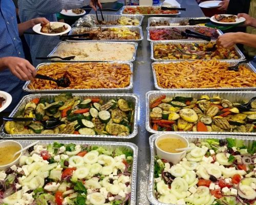 buffet style meals catering order austin corporate meal office