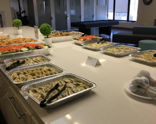 buffet style office catering group order thai asian caterer new york