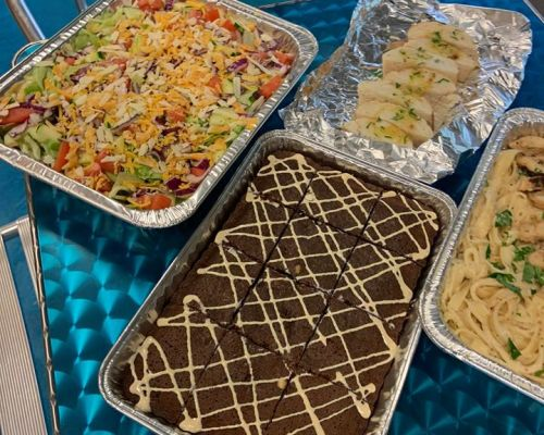 buffet style office food order buiness catering Covington