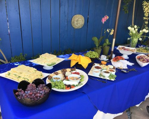 buffet style private social event catering los angeles