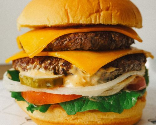 build your own burger group order company staff food