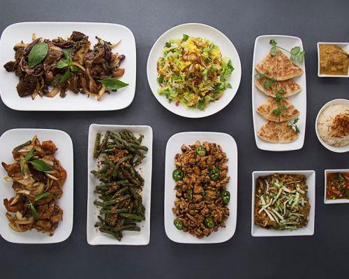 vegetable and tofu entrees food