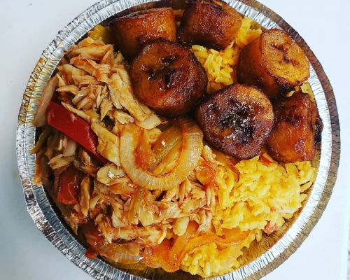 business catering carribean chicken group team food order bronx