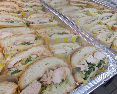 business lunch sandwich trays catering service cary