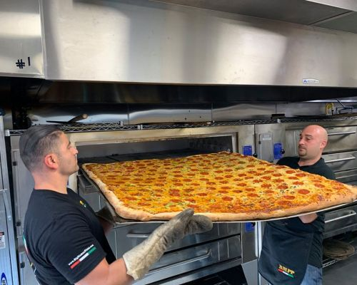 business meeting food order giant pizza party caterer glendale