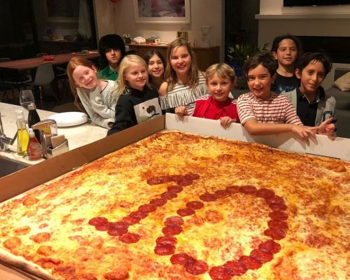 celebration birthday pizza party cake glendale kids order