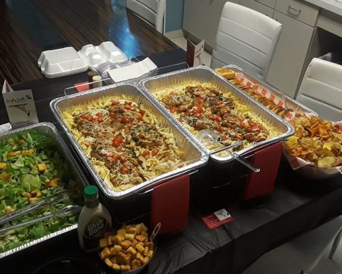 corporate caterer company lunch family catering