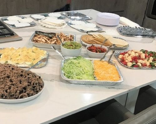 corporate catering food spread office food delivery