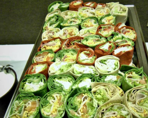 corporate catering indianapolis wrap platter