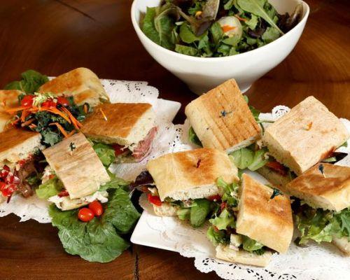 corporate catering lunch sandwich platter breakfast order