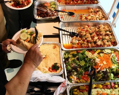 corporate catering package buffet style washington