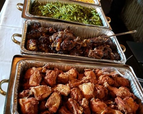 corporate lunch order business catering carribean food caterer new york
