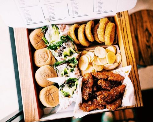 family box assorted appetizer starters business catering