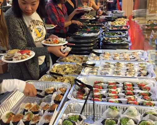 family meal event catering party trays