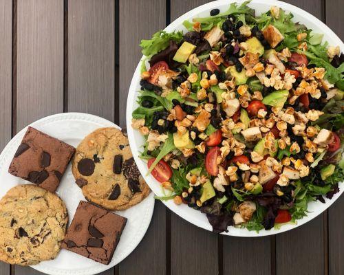 family meal salads platter