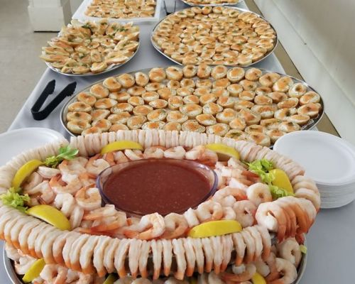 family style buffet catering food