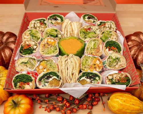 pita pit platter mediterranean food box meal package party catering