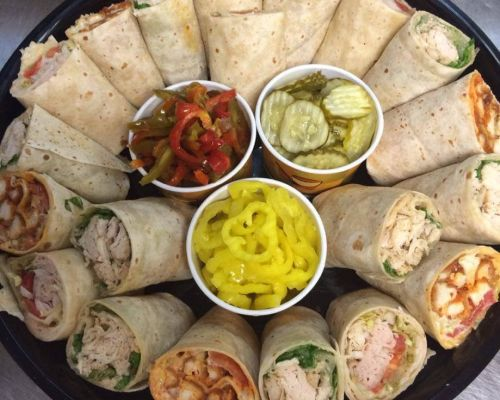 wrap platter grab-to catering food