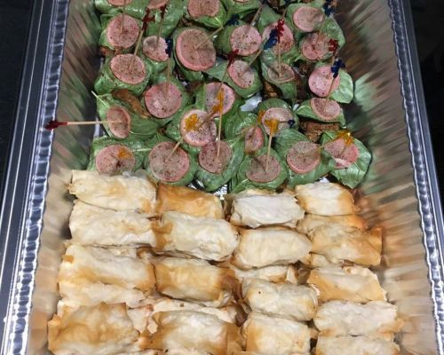 group buffet catering team order food lunch