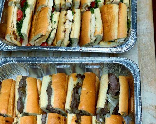 group sandwich platter office meal ideas corporate caterer jersey city
