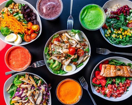 healthy catering salads