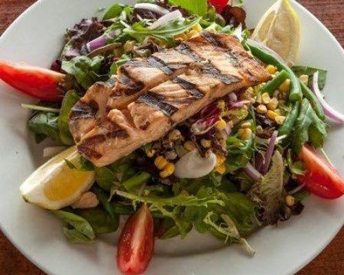 healthy ingredients salad