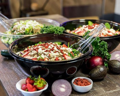 mixed salads food catering