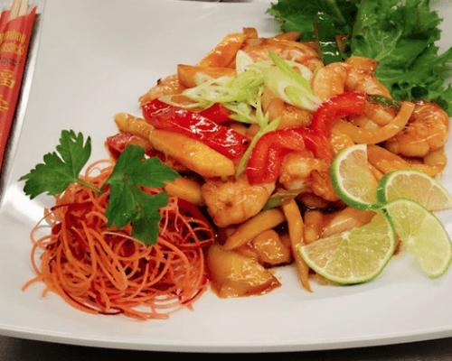 shrimp mango