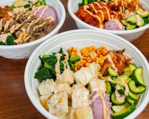 individually packed bowls office lunch catering food