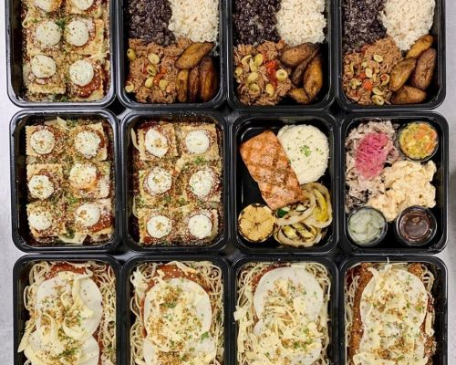 individually packed healthy meal corporate lunch