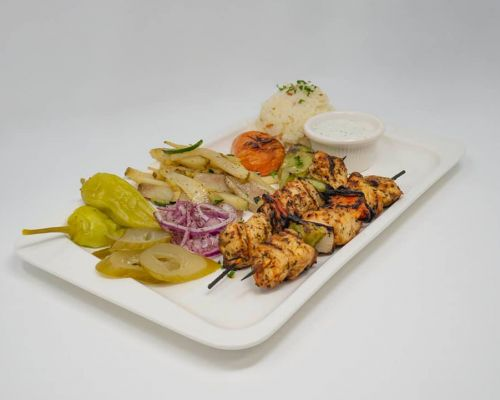 kabab meals with tray