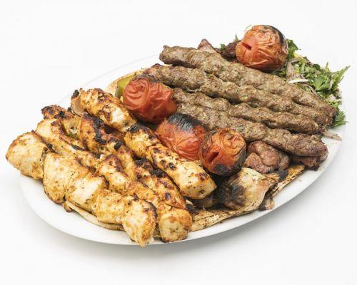 kebab platter food