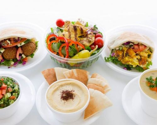 mediterranean buffet style catering