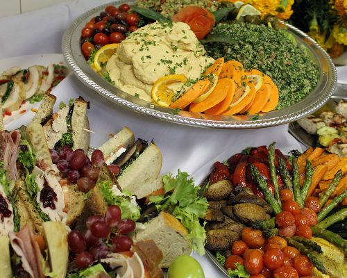 healthy mediterranean catering food