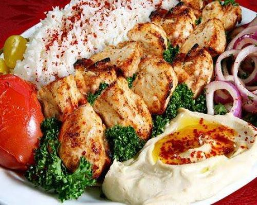 middle eastern meat skewers corporate lunch order office catering