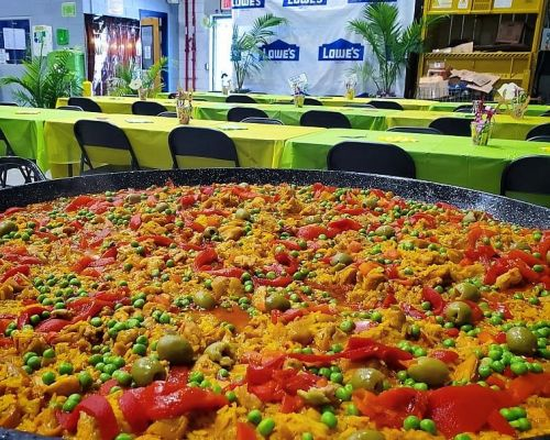 office catering caribbean caterer homestead buffet style